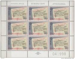 PIA  -  JUGOSLAVIA  -  1985  : Europa   (Un  1993-94 X 9) - Blocs-feuillets