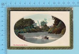 Couple Dans Une Barque - Cover 1911 Ont. Embossed , Title The Bend In The River - Carte Postale Postcard  -2 Scans - Non Classés