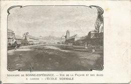 SEMINAIRE DE BONNE-ESPERANCE. - VUE DE LA FACADE ET DES AILES. A GAUCHE, L'ECOLE NORMALE.. - (scan Verso) - Estinnes