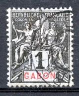 Gabon, 1904, Allegory, Allegorie, 1 C, Used, Michel 16 - Gabun (1960-...)