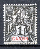 Gabon, 1904, Allegory, Allegorie, 1 C, Used, Michel 16