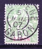 Gabon, 1904, Allegory, Allegorie, 5 C, Used, Michel 19