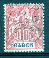 Gabon, 1904, Allegory, Allegorie, 10 C, Used, Michel 20