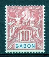 Gabon, 1904, Allegory, Allegorie, 10 C, MH, Michel 20