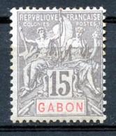 Gabon, 1904, Allegory, Allegorie, 15 C, MH, Michel 21