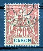 Gabon, 1904, Allegory, Allegorie, 20 C, Used, Michel 22