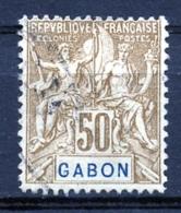 Gabon, 1904, Allegory, Allegorie, 50 C, Used, Michel 28