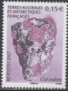 FSAT/TAAF 2007 Single Mineral, Corindon #375 - Nuevos
