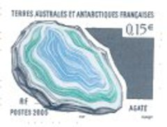 FSAT/TAAF 2005 Single: Mineral, Agate #344 - Nuevos