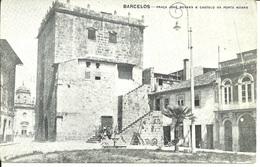 BARCELOS - Praça José Novaes E Castelo Da Porta Nobre (Ed. Perola Da Calçada - Off. Commercio Porto) - Braga