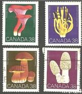Sc. #1245-48 Mushrooms 1989 SetUsed K676 - 1952-.... Règne D'Elizabeth II