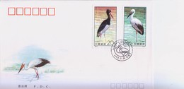 China 1992-2  Storks-Special  Stamps FDC - Storks & Long-legged Wading Birds