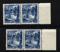Franz.Zone,Rheinland-Pfalz,7a,b,je Im Typenpaar I-II,xx,(5290) - Französische Zone