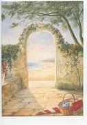 """D. Lebeau - Aquarelle """"ecoutez Dans Le Silence... Yves Duteil (n°14 Ouranos Vierge) Porche Plage Panier Tricot - Autres Illustrateurs"""