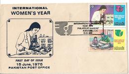 Pakistan FDC 1975 International Women's Year - Pakistan