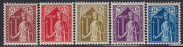 Luxembourg 1932 Child Care - Perforation 12½, MNH (**) Michel 245-249 - Luxembourg