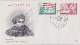 EXPEDITIONS ANTARCTIQUES BELGE 8-10-1966 BASE ROI BEAUDOUIN - Timbres