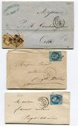 ALPES MARITIMES De NICE GC 2656 Sur 2 LAC + 1 Env. - Postmark Collection (Covers)