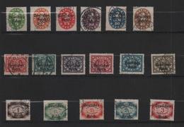 Allemagne 1920. 17 Timbres De Service Oblitérés N° 61 à 77 ( Y Et T ) - Oblitérés