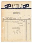 """Facture - M. Péroni & Cie  Affûtage Moderne à Paris  En 1946 - Lame De Rasoir """" César """" (fr36) - 1900 – 1949"""