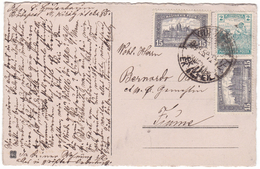 Hungary, Postcard Mailed To Fiume 1923 - Inflation