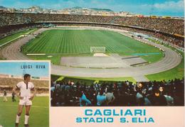 Cagliari - Stadio Sant'Elia Con Foto Luigi Gigi Riva - Football