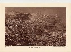 ALGER, VUE DU SUD, ALGERIE,  Planche Densité = 200g, Format: 20 X 29 Cm, (Cie Aérienne Française) - Documents Historiques