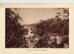 CHUTES DE LA SANAGA, CAMEROUN,  Planche Densité = 200g, Format: 20 X 29 Cm, (Agence Economique Togo-Cameroun) - Documents Historiques