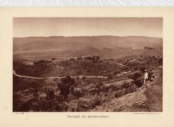 PAYSAGE DU MOYEN-CONGO, Animée,  Planche Densité = 200g, Format: 20 X 29 Cm, (Agence Economique A.F.F.) - Historical Documents