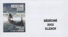 BEDECINE 2002 Enveloppe FDC Vierge Affiche GRIFFO & BURGAZZOLI  Présidents Du Festival - Comics