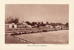 QUAIS DE DOUALA, CAMEROUN,  Animée, Planche Densité = 200g, Format: 20 X 29 Cm, (Agence Economique Togo-Cameroun) - Documents Historiques