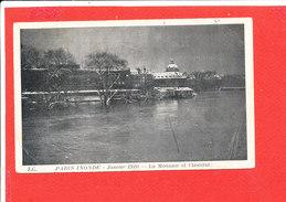 75 PARIS INONDATIONS 1910 CRUE SEINE Cpa La Monnaie Et L ' Institut    Edit J C - Inondations De 1910