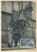 D28266 CARTE MAXIMUM CARD 1953 FRANCE - HOTEL-DIEU BEAUNE ENTRANCE CP ORIGINAL - Architecture