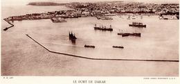 LE PORT DE DAKAR, SENEGAL, Animée, Planche Densité = 200g, Format: 20 X 29 Cm, (Ag. Economique A.O.F.) - Documents Historiques