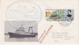 South Georgia 1975 Ship Walther Herwig Ca South Georgia 29 Dec 1975 Cover (34345) - Zuid-Georgia