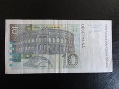 Billet 10 Kunas - 2001 ? - Thème : Antiquité Romaine , Amphithéatre De Pula - Croatie