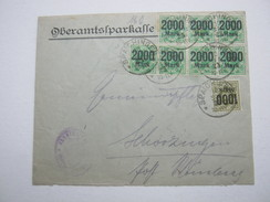 1923 , Spaichingen , Brief Mit Massenfrankatur - Wuerttemberg