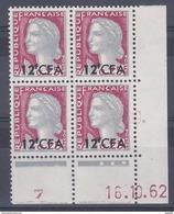 Réunion CFA Marianne De Decaris N°350 Coin Daté 16/10/62 ** - Nuevos