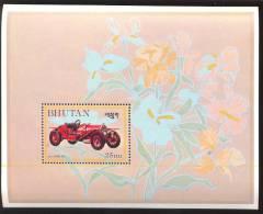 MINT NEVER HINGED SOUVENIR SHEET OF CARS  # 096-2  ( BHUTAN   440  SIMPLEX 1912 - Auto's