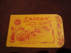 Sachet SAFRAN Récolte Du Safran Dans Le Gatinais Pithiviers - Oude Documenten