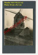 Moulin A Vent-NEUVILLE VITASSE-WINDMÜHLE-PHOTO Allemande Sur Carton-Guerre 14-18-1 WK-France-62- - Other Municipalities