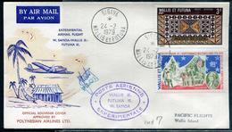 WALLIS ET FUTUNA - N°190 + PA N°58 / LETTRE AVION VOL EXPERIMENTAL WALLIS-SAMOA DE SIGAVE LE 24/2/1979 - SUP - Covers & Documents