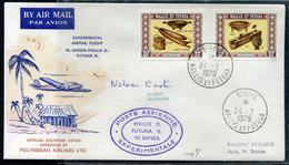 WALLIS ET FUTUNA - N°198 & 199 / LETTRE AVION VOL EXPERIMENTAL WALLIS-SAMOA DE SIGAVE LE 24/2/1979 - SUP - Covers & Documents