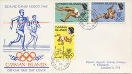 O.S. Mexico-Stad: FDC Caymaneilanden - 1968 - Ete 1968: Mexico