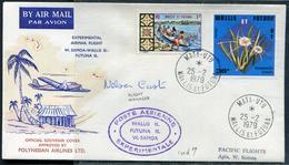 WALLIS ET FUTUNA - N°174 & 216 / LETTRE AVION VOL EXPERIMENTAL WALLIS-SAMOA DE MATA-UTU LE 25/2/1979 - SUP - Covers & Documents