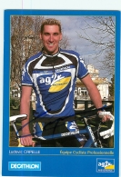 Ludovic CAPELLE ,  Autographe Manuscrit, Dédicace. 2 Scans. Cyclisme. AG2R Decathlon 2001 - Cyclisme