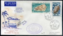 WALLIS ET FUTUNA - N°164 & 192 / LETTRE AVION VOL EXPERIMENTAL WALLIS-SAMOA DE MATA-UTU LE 24/2/1979 - SUP - Covers & Documents
