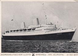 SHIPS - MS Europa - Norddeutscher Lloyd Bremen - Dampfer