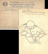 Feldpostkarte Von Der Truppe  (rückseitig Zeichnung Büroordonnanz)         1917 - Poste Militaire