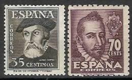 España 1035/1036 ** Personajes. 1948. - 1931-Hoy: 2ª República - ... Juan Carlos I